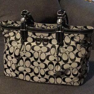 Coach Bags - Gray Signature canvas Coach purse